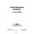Continental Model IO-240 Series Maintenance Manual X30621A  $29.95