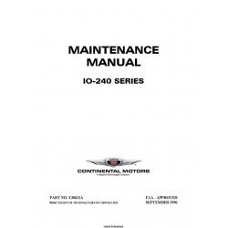 Continental Model IO-240 Series Maintenance Manual X30621A