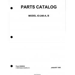 Continental Model IO-240-A-B Parts Catalog X30623A