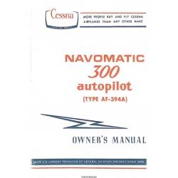 Cessna Navomatic 300 Autopilot (Type AF-394A) Owner's Manual D979-13