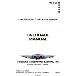 Continental Model IOF-550-B-C-N-P-R Overhaul Manual OH-24 $29.95