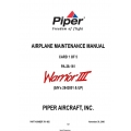 Piper PA-28-161 Warrior III (S/N's 2842001 & UP) Maintenance Manual Part# 761-882_v2006 $29.95