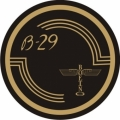 Boeing B-29 Aircraft Decal,Sticker/Vinyl Graphics 3''round!