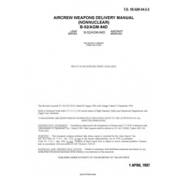 Boeing B-52/AGM-84D Aircarft Aircrew Weapons Delivery Manual (NonNuclear) - T.O.1B-52H-34-2-2 1997