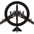 "Peace The Old Fashioned Way B-52 Decal/Sticker 10""wide x 9.31""high!"