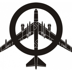 """Peace The Old Fashioned Way B-52 Decal/Sticker 10""""wide x 9.31""""high!"""