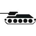 "Battle Tank Kill Insignias Decal/Vinyl Sticker! (4) 2 5/8"" wide by 1"" high!"