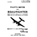 Beaufighter Mark VI-Two Hercules VI Engines & Marks TFx & XI-Two Hercules XVII Engines Pilot's Notes $2.95