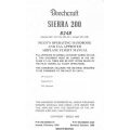 Beechcraft Sierra 200 B24R Pilot's Operating Handbook & Flight Manual/POH 1980 - 1990 169-590023-15A2