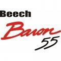 Beech Baron 55 Aircraft Logo,Decals!