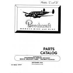 Beechcraft Models D18S & D18C 1949-1962 Parts Catalog $13.95