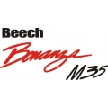 Beech Bonanza M35 Aircraft Logo,Decals!