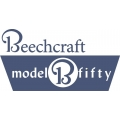 Beechcraft B Model Fifty Aircraft Decal,Sticker!