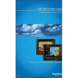 Bendix King KSN 765/770 Integrated Communication Navigation Display Pilot's Guide $29.95