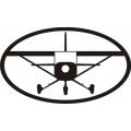"Black Plane Decal/Vinyl Sticker 10"" wide x 5.9"" high! $9.95"