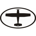 "Black Plane2 Decal/Vinyl Sticker 10"" wide x 5.9"" high! $9.95"