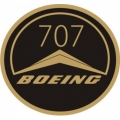 Boeing B-707 Aircraft Decal,Sticker/Vinyl Graphics 3''round!