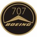 Boeing B-707 Aircraft Decal,Sticker/Vinyl Graphics 3''round!