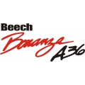 Beechcraft Bonanza A36 Aircraft Decal,Sticker!