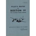 Douglas Boston IV Pilot's Notes