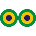 Brazil Roundel Aircraft Insignia Decals!