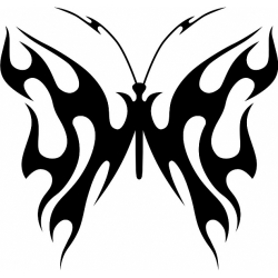 Butterfly! Sticker/Decal!