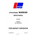 Piper Cherokee Warrior PA-28-151-PA-28-161 Service Manual v09 761-539 $19.95