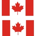 "Canada Flag Decal/Vinyl Sticker 4.5"" wide by 3"" high!"