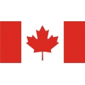"Canada Flag Decal 8"" wide by 3.99"" high!"