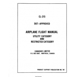 Canadair CL-215 Airplane Flight Manual/POH $12.95