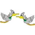 Flying Duck Aircraft Decal/Sticker!12w x 8.25h!