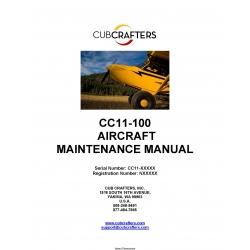 Cub Crafters CC11-100 Maintenance Manual 2013 $ 9.95