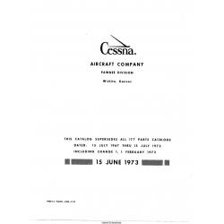 Cessna Model 177 Illustrated Parts Catalog P495-12 $19.95