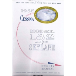 Cessna 182 and Skylane Owner's Manual 1965 $9.95