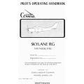 Cessna Skylane RG R182 Pilot's Operating Handbook 1978 $9.95