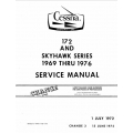Cessna 172 & Skyhawk Service Manual 1969 thru 1976 $19.95