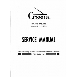 Cessna 100 Series Service Manual 1962 & Prior $19.95