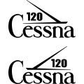 Cessna 120 Aircraft Tail Decal,Stickers!