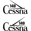 Cessna 140 Aircraft Tail Decal,Stickers!
