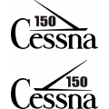 Cessna 150 Aircraft Tail Decal,Stickers!