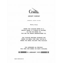Cessna 150 Parts Catalog 1970 $19.95