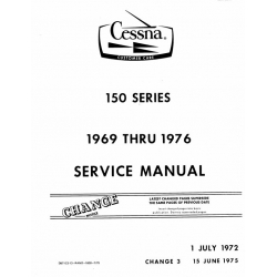 Cessna 150 Series Service Manual 1969 thru 1976 D971C3-13 $19.95