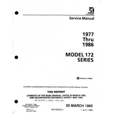 cessna 172 series 1977 thru 1986 service manual 19 95 rh aero stuff com Cessna 172 Manual PDF Cessna 172 Manual PDF