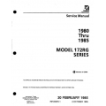 Cessna 172RG Series 1980 thru 1985 Service Manual D2066-1-13 $19.95