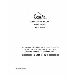 Cessna 177 Parts Catalog 1967 thru 1972 $13.95