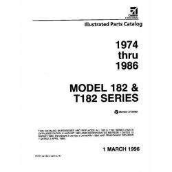 Cessna 182 & T182 Parts Catalog 1974-1986 182P 182Q 182R