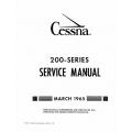 Cessna 200 Series 1960 thru 1965 Service Manual 1965 $19.95