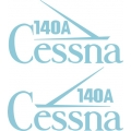 Cessna 140A Aircraft Tail Decal,Stickers!