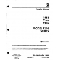 Cessna P210 Series 1985 thru 1986 Service Manual $19.95