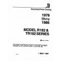 Cessna R182 & TR182 Series Parts Catalog 1978 thru 1986 $19.95